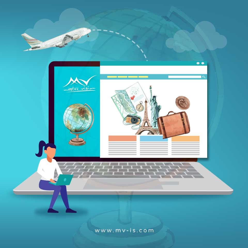 تصميم و تنفيذ موقع إلكتروني  لشركة سياحة